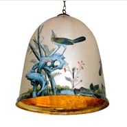 Canopy Bell Jar with Birds